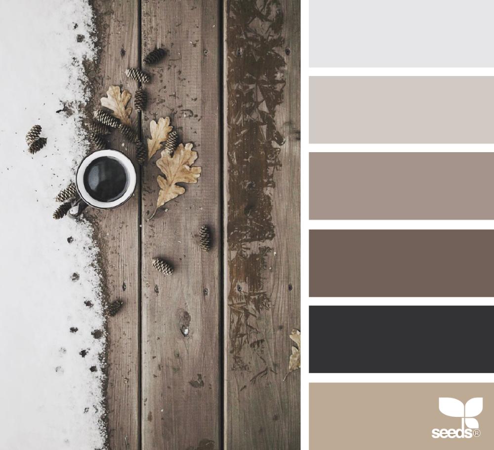 paleta de colores marrón