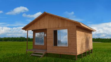 cabaña prefabricada madera modelo a